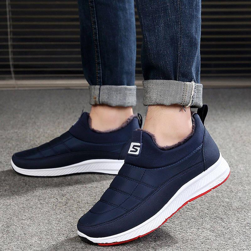 w60798793260u冬季老鞋男士保暖棉鞋加绒加厚休闲户外棉靴男女棉靴