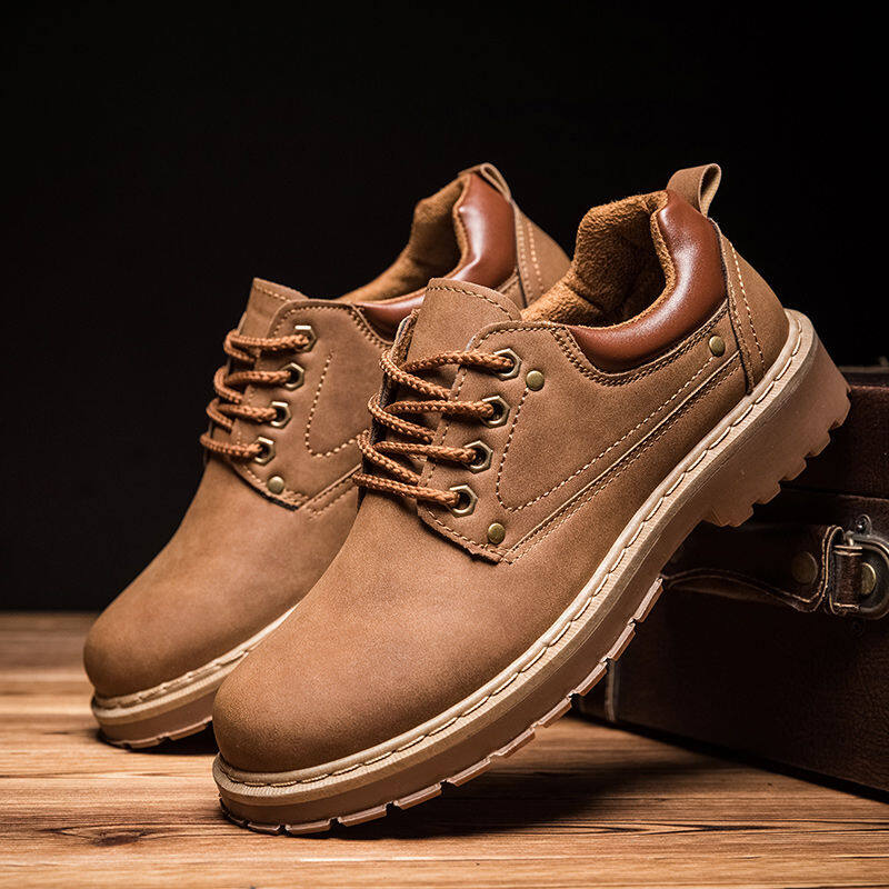 w117988030947u男士休闲皮鞋透气工装鞋厨房厨师鞋防滑工作鞋潮流板鞋男