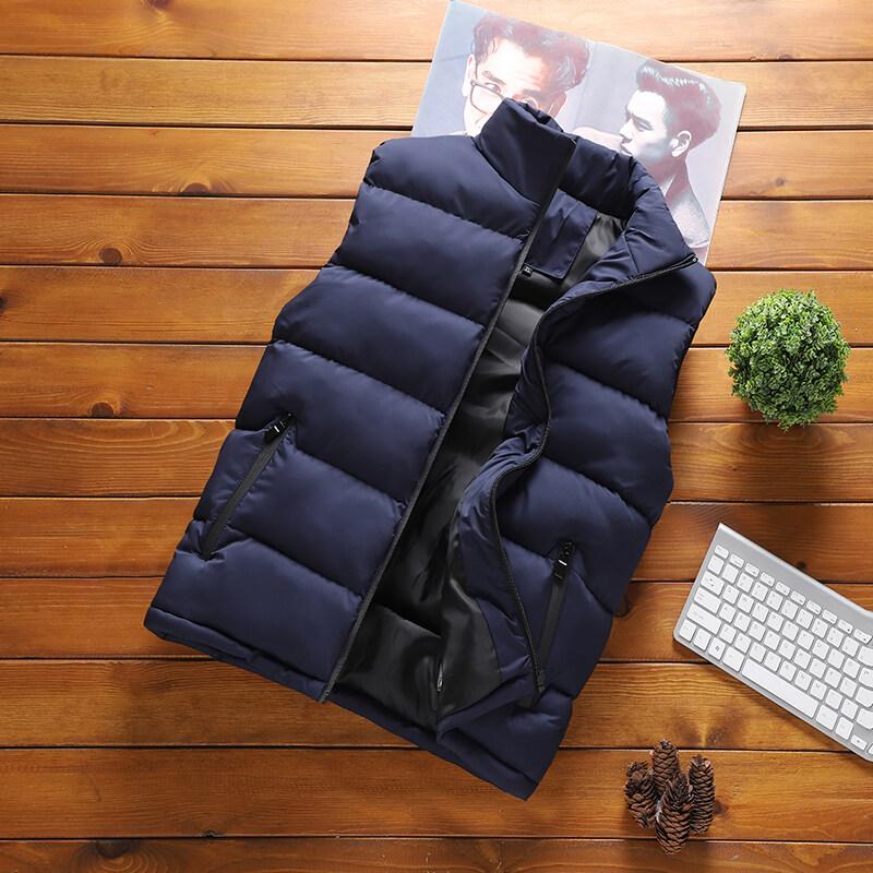 GY7320男士秋冬季马甲韩版潮流修身无袖加厚保暖羽绒棉马夹背心坎肩外套