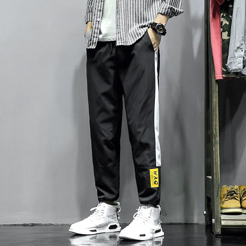 GY718裤子男潮流宽松2020春秋季新款百搭宽松束脚九分裤休闲运动裤