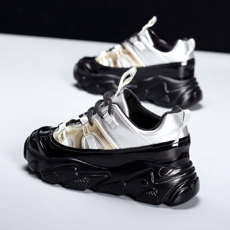 韩国大码女鞋2020新款时尚百搭运动休闲厚底网红超火老爹鞋ins潮