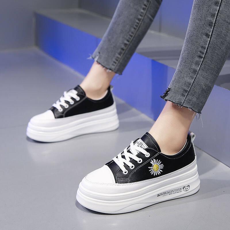 GME19281小白鞋女2020春季新款百搭平底学生厚底白鞋基础板鞋韩版休闲板鞋