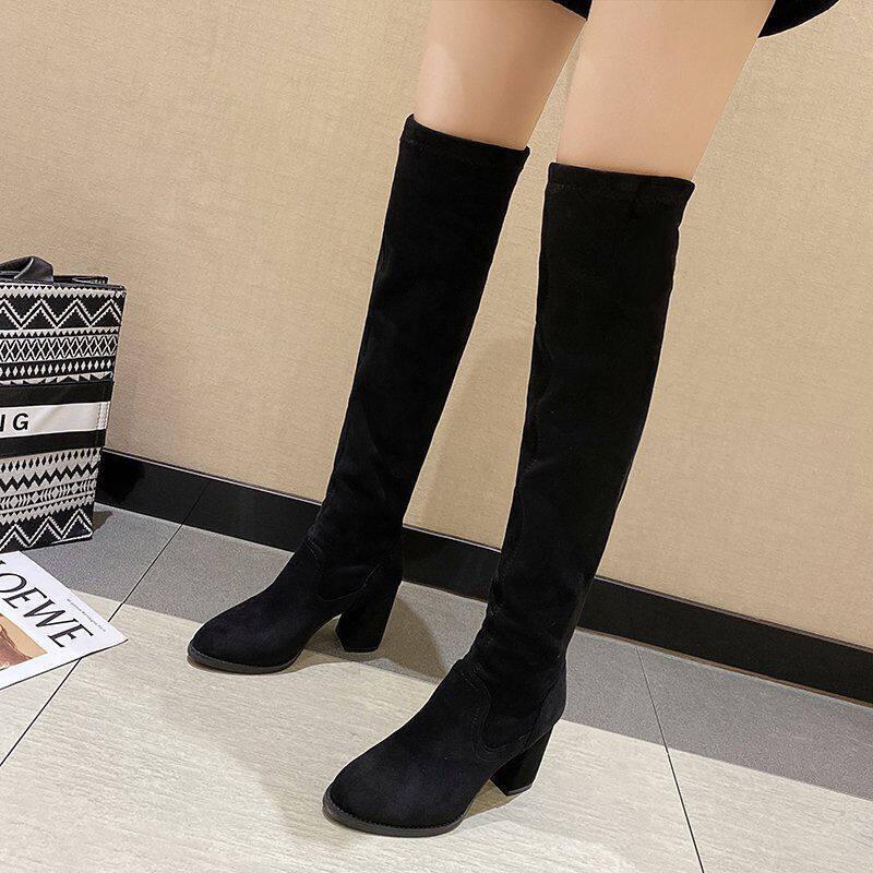长靴女过膝靴女2020秋冬高筒靴加绒瘦瘦靴弹力过膝靴高筒长筒靴子
