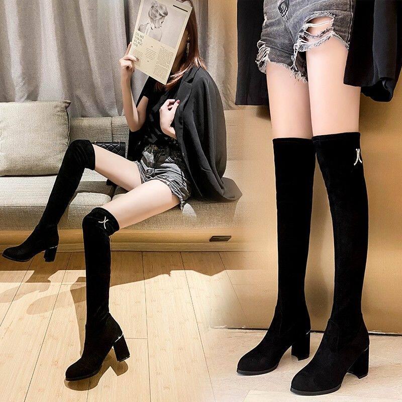 G.1816长靴女过膝靴子2020新款粗跟高筒女鞋弹力瘦瘦靴女高跟长筒靴子女