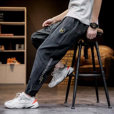日系-马切达  K2068-P28  100%聚酯纤维  2021春季新款休闲裤长裤