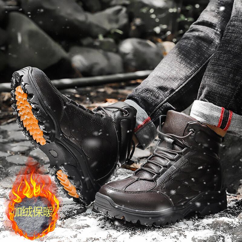 8022冬季爆款大棉雪地靴户外登山鞋加厚加绒棉鞋高邦男鞋