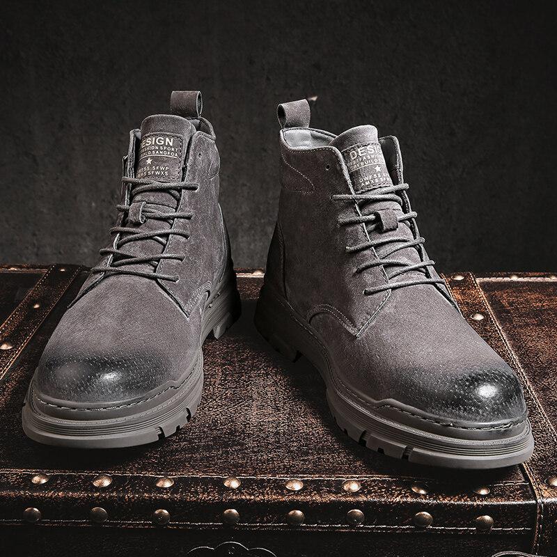 8010主推款新款中帮拉链英伦潮靴工装靴马丁靴