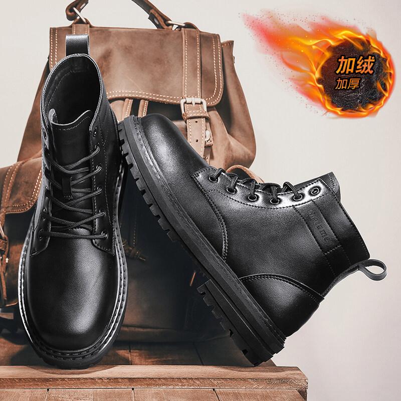 D6011主推款新款高帮马丁靴机车靴有加棉92元
