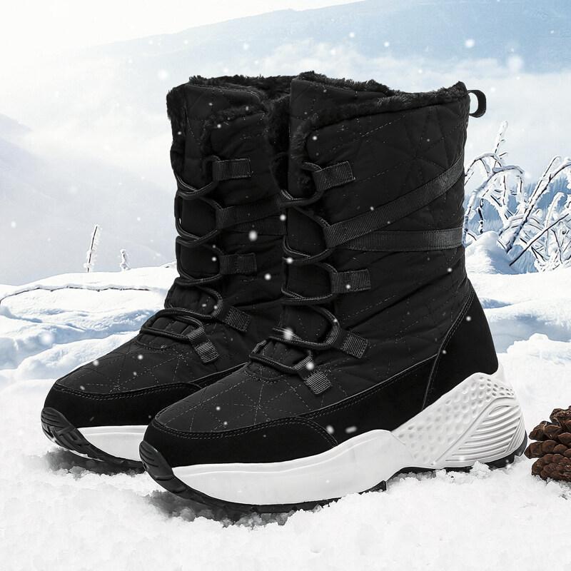 2118雅诺冬季户外雪地靴女保暖棉鞋女大码2118