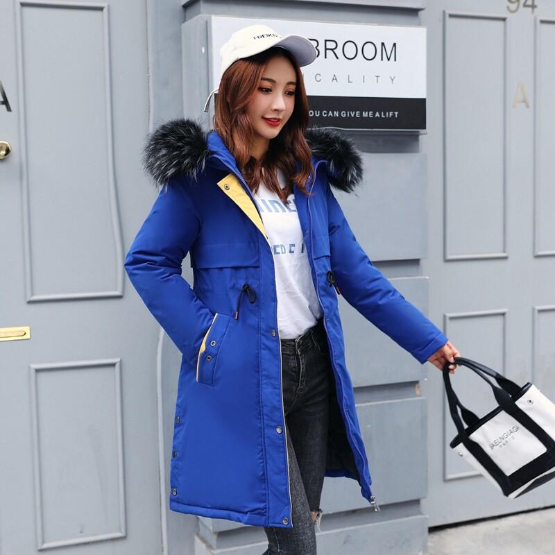 BN8001羽绒棉服女中长款2020冬装新款韩版宽松派克服减龄棉衣棉袄外