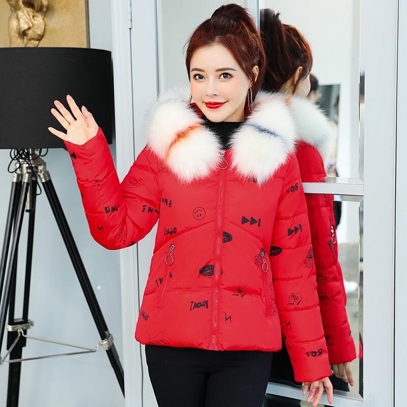 BN8003印花棉服短款女显瘦2020冬季新款加厚小棉袄时尚小个子外套潮