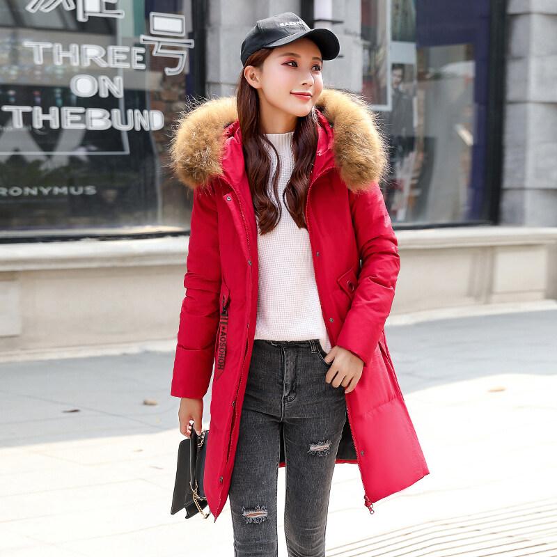 BN9801派克羽绒服2020年新款女中长款白鸭绒韩版时尚显瘦大毛领连帽