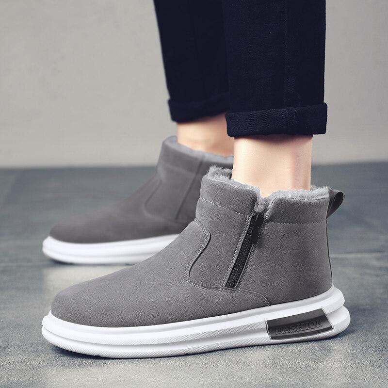 BD002【誉诚鞋业-BD002-注塑】加绒高帮爆款雪地靴-39元