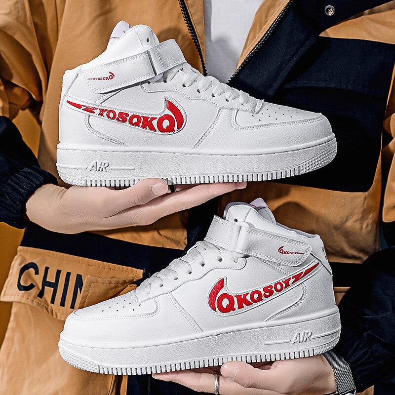 6311永迈6311AJ1超纤皮橡胶底高帮板鞋36-44