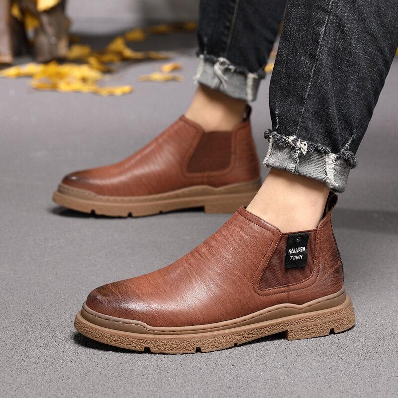 6152迪尔奇6152新品爆款超纤皮切尔西休闲皮鞋38-44P89