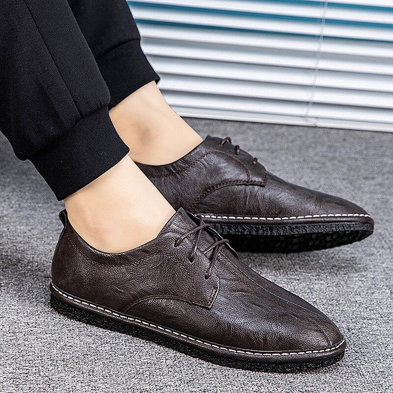 8859迪尔奇8859新款爆款超纤皮英伦休闲手工鞋38-44码P78