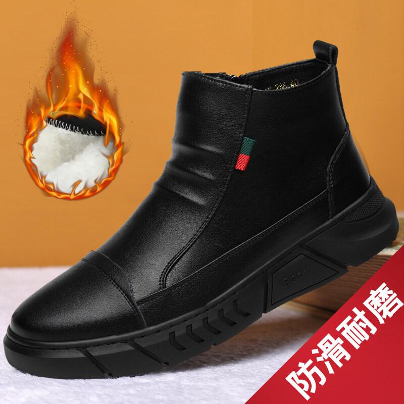 286迪尔奇286秋冬爆款加绒真皮工装马丁靴38-44皮鞋码P85