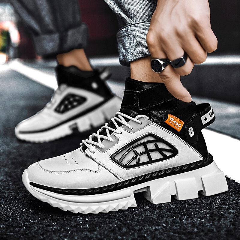 1003迪尔奇1003新品超纤夜光鞋跨境大码高帮鞋-P75.00元