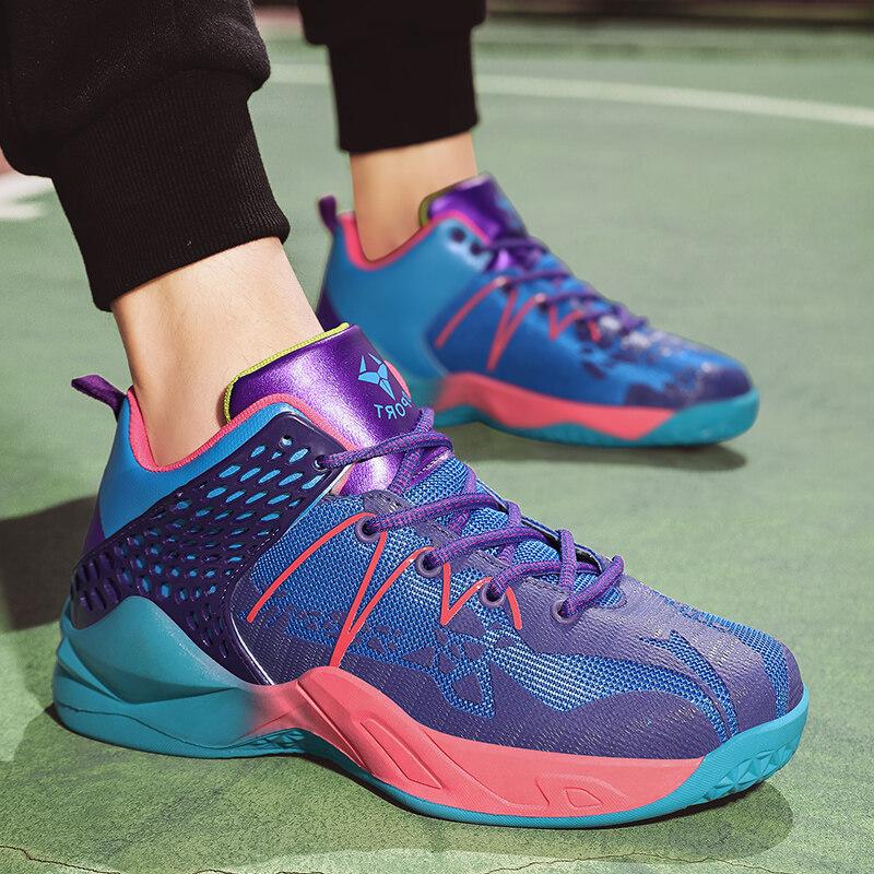2152乐登★篮球鞋新款情侣运动鞋高帮潮鞋女球鞋实战训练鞋