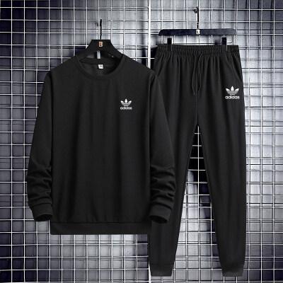 2021年冬季新款男生套装休闲百搭运动舒适韩版潮流帅气两件套