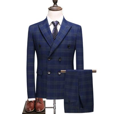 送领带男士商务休闲西服套装三件套礼服套装S-5XL-6027P290