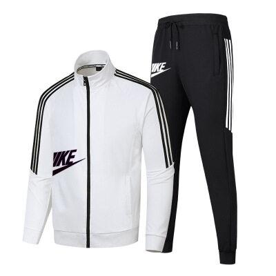 2020冬季新款休闲运动套装男生个性百搭潮男韩版帅气两件套时尚