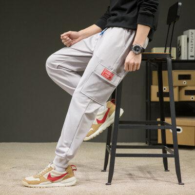 灰墙鞋盒   K096-P30   95%聚酯纤维5%氨纶   2021春季新款休闲裤