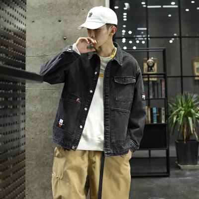 牛仔外套男韩版潮流春季夹克宽松休闲学生春季百搭上衣J2076-P65