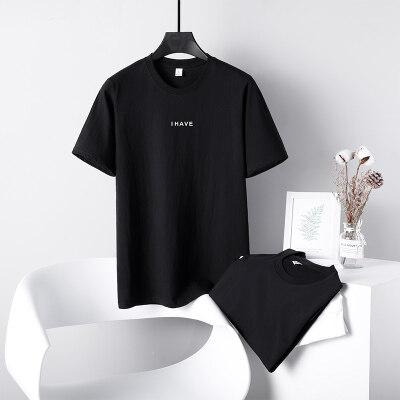 2021夏季潮牌圆领t恤男短袖新款纯棉宽松潮流男装上衣