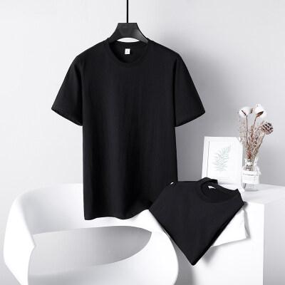 2021夏季圆领t恤男明星同款纯棉宽松潮流男装上衣