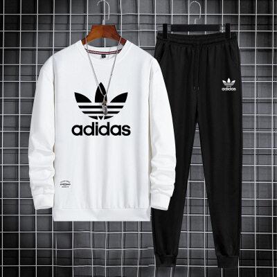 休闲套装男韩版潮流包2021春装新款青少年舒适运动潮牌两件套外套