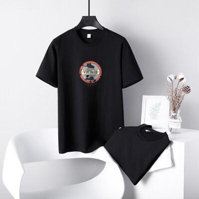 2021夏装男士短袖T恤潮牌潮流花体恤半袖装