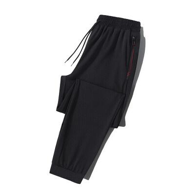 2021夏季新款休闲裤男士韩版潮冰丝九分裤青年冰丝空调裤