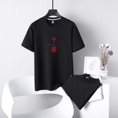 中国风原创国潮风个性潮牌纯棉短袖T恤男女同款情侣打底衫