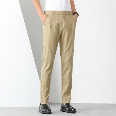 商务休闲裤气质直筒西裤男士百搭长裤WK0602-P95