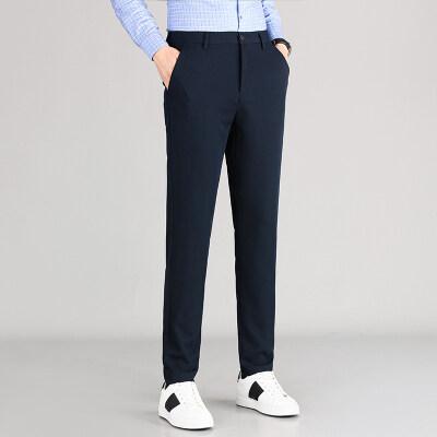 主推款商务休闲微弹天丝西裤男士直筒裤百搭气质长裤子WK2102-P90
