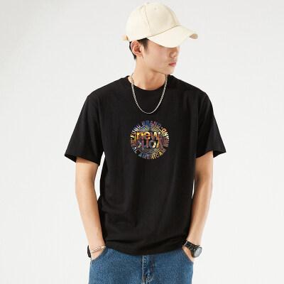 2021新款夏季短袖男潮纯棉t恤半袖上衣打底衫