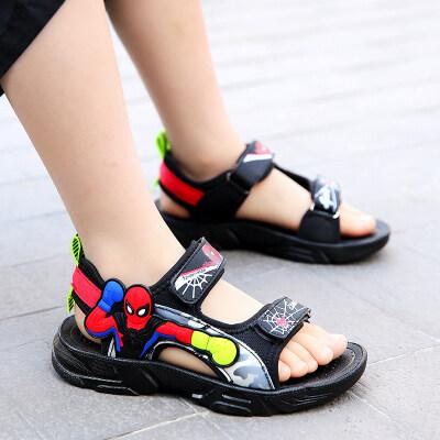男凉鞋2021新款蜘蛛侠软底防滑中大童鞋子儿童沙滩鞋9岁