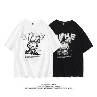 T131-P40 M-8XL大码 中性短袖卡通印花爆款夏季t恤潮牌高品质纯棉
