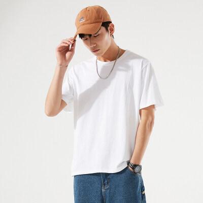 纯棉男士短袖t恤春夏新款韩版宽松情侣潮牌ins潮流长袖打底衫