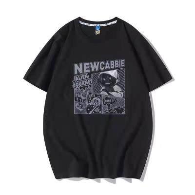 2021夏季新款宽松圆领T恤纯棉百搭青年ins潮牌上衣