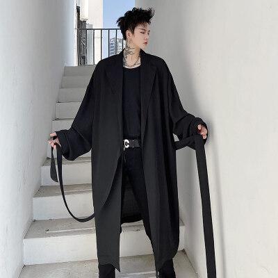 21春夏男衬衫设计感免烫丝滑宽松潮雪纺暗黑系发型师防晒 C199P85