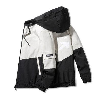 主推 2021春季新品夹克男外套青年连帽男休闲夹克 M-4XL J580 P28