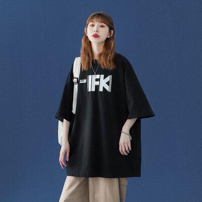 中性风-敏紫   DT6636-P25   100%棉   夏季大码休闲短袖印花上衣