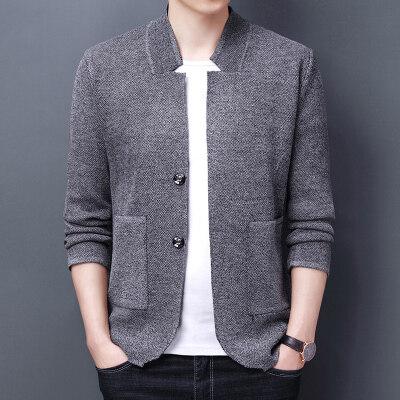 春季男士立领开衫外穿男士针织衫  外套线衣轻熟风外套993P60
