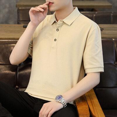 短袖T恤男翻领纯棉夏季新款衣服男士polo衫潮流有领半袖体恤