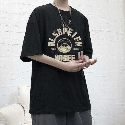 大皂风-安   DT6652-P25   100%棉    2021夏装大码短袖印花T恤男