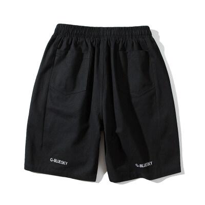 全棉水洗裤男士五分短休闲裤夏季男短裤日系中裤大码K113 P23