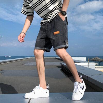 夏季新款日系大码休闲工装宽松男牛仔短裤五分裤DK862P35