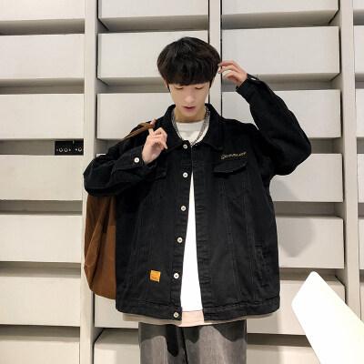 【秋季2020】潮流青年ins韩版港风牛仔工装夹克男外套男DS490P50